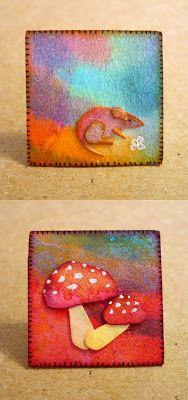 Oops, I Craft My Pants: Microcosmos! Watercolor scrap Inchies