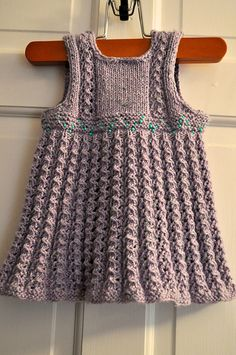 Ravelry: ceemack's Baby Girl Dress (Ellis dress pattern, 3-month size. I'm not thrilled with the color scheme, but it might be the poor lighting of the photo)