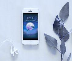 Wild Geese Phone Wallpaper - Instant Digital Download von TerraSomniaArt auf Etsy Fantasy Kunst, Photo Wallpaper, Photo Library, Digital Image, Etsy, Iphone, Data Processing, Night Skies, Original Paintings