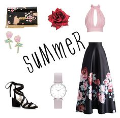 """Floral skirts"" by joneslil on Polyvore featuring Chicwish, Kenneth Cole, Moschino and Big Bud Press"