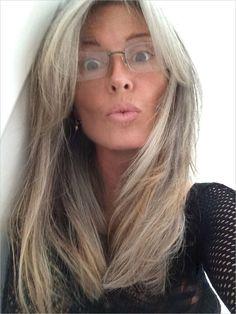 natural grey hair color - Google Search