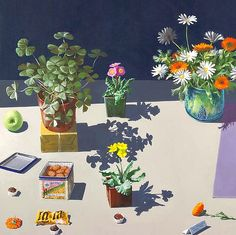 Paul Wonner    Dutch Still Life with Cookies and Candy, detail    1984   via stilllifequickheart.tumblr.com