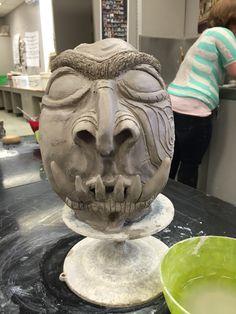 Sculptural vase, coil built, Seaman High School Ceramics 2