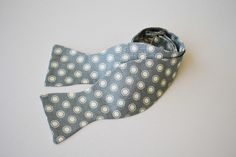 Freestyle Bow Tie- Gray with White Dots. $22.00, via Etsy.