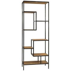 metal and wood bookshelves | Irondale Helena Reclaimed Wood Bookcase
