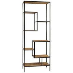 metal and wood bookshelves | Irondale Helena Reclaimed Wood Bookcase