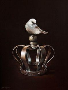 "Jane Crisp's ""Pretty Popokatea's Crown"" for sale on Trade Me, New Zealand's auction and classifieds website Nz Art, Still Life Photos, Photo Reference, Coups, Bird Art, Blue Bird, Sculptures, Perfume Bottles, Illustration Art"