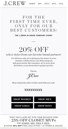 J.Crew Aficionada: 48 Hours Only: A Private Third Party Branded Item Sale Event at J.Crew
