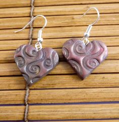 Heart shaped earrings!