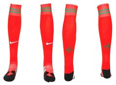 Chaussettes Portugal Domicile Rouge 01 2013 2014 #chaussetterouge Equipement Football, Portugal, Socks, 2013, Red Socks, Sock, Stockings, Ankle Socks, Hosiery