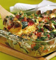 Ratatouille Polenta Bake   #glutenfree #vegetarian