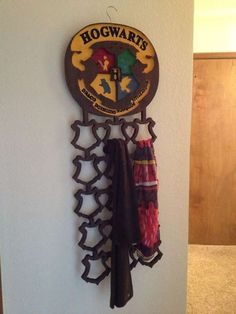 The DIY Harry Potter Scarf Rack is a Magically Tricky Project #geeky trendhunter.com