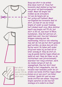 made with love by mams: Shirtjurkje voor alle maten! Sewing Hacks, Sewing Tutorials, Sewing Patterns, Fashion Sewing, Diy Fashion, Dress Fashion, Sewing Clothes, Diy Clothes, Sewing Studio