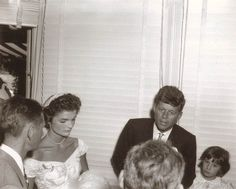 Never-before-seen wedding photos of JFK and Jackie Kennedy - Slideshows and Picture Stories - TODAY.com. SPEAKING TO THE GUESTS: John and Jackie Kennedy on their wedding day, Sept. 12, 1953.