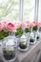 Tischdeko konfirmation blumen  Tischdekoration in rose+ Schöne Dekoration für Kommunion ...