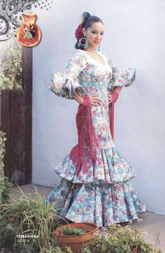 Flamenco dress. Yerbabuena