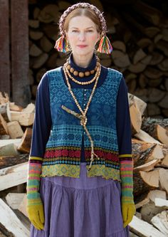 """""""Sirja"""" cotton vest – Muhu Inspiration – GUDRUN SJÖDÉN – Webshop, mail order and boutiques   Colorful clothes and home textiles in natural m..."""