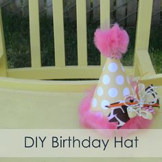 Our Thrifty Ideas: {Tutorial} DIY Birthday These are so easy to make, any color theme, embellish, fabric, paper Baby Girl First Birthday, Diy Birthday, First Birthday Parties, First Birthdays, Birthday Hats, Birthday Ideas, Kids Party Decorations, Party Themes, Party Ideas
