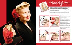 1950's hair tutorial. http://www.hrstbooks.com/vintage-hairstyling/sneak-peek