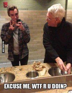 Gap between generations - selfies