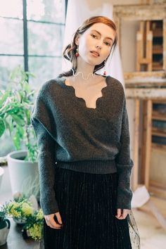 The Reichenbach Jumper(Charcoal) – Miss Patina Sheer Lace Top, Floral Shirt Dress, Windsor Dresses, Clothes Horse, Vintage Lace, A Line Skirts, Jumper, Charcoal, Casual Outfits