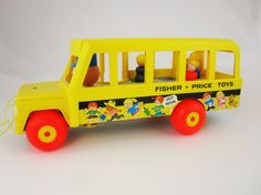 Fisher-Price Pull Toy  'Schoolbus' No. 192  by TheChildrensRoom