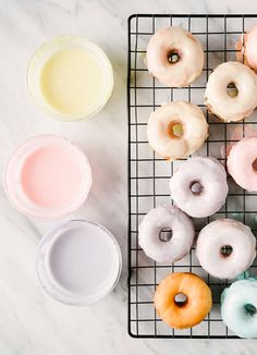 Pastel Icing Drip Donuts