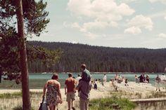 Lake wedding- Ennis, Montana.