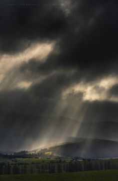 Brindabellas Showers drifting across the ranges at Tidbinbilla