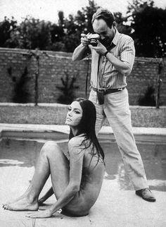 Marisa Mell + Michelangelo Antonioni, 1971.