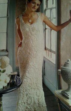 BEAUTIFUL CROCHET PATTERN BELLA BRIDE'S WEDDING DRESS