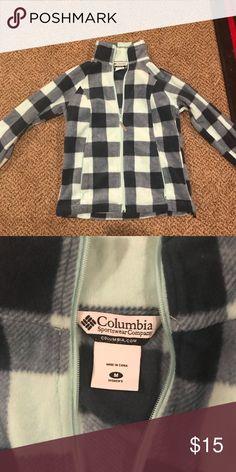 Columbia Fleece Medium plaid zip up Blue plaid size medium zip up Columbia fleece!  Worn a few times! Columbia Other