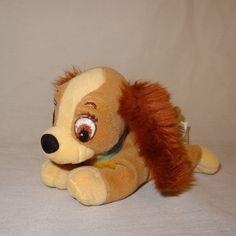 "Lady and the Tramp Disney Lady Dog  7"" Plush Stuffed Animal Bean Bag Toy #Disney"