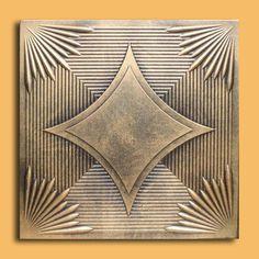 40 PC Tinlook Antique Ceiling Tile Yerevan Gold Black Painted   eBay
