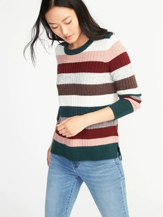 Plush Rib-Knit Sweater for Women 70s Fashion, Fashion Outfits, Fashion Trends, Cheap Fashion, Fashion Inspiration, Fall Outfits, Casual Outfits, Jean Outfits, Autumn Winter Fashion