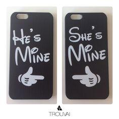 Set de dos estuches perfecto para enamorados! #love #iphone #couples #case #two #trouvai