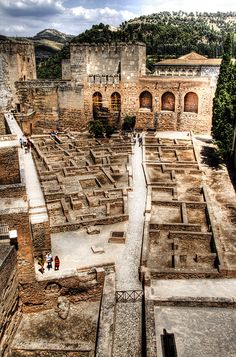 Alcazaba parade ground - Alhambra, Granada, Spain