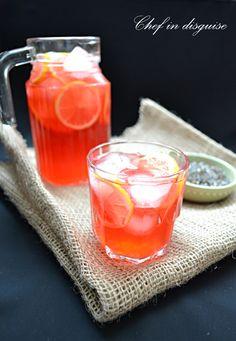 Cherry lavender lemonade