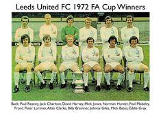 72 FA Cup winners Leeds United Team, Leeds United Football, Football Boots, Football Team, The Damned United, Norman Hunter, David Harvey, Jack Charlton, Mick Jones