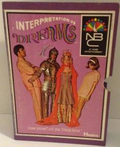 Interpreting Dreams Groovy NBC 1969 Game Hasbro Purple Box Complete #Hasbro