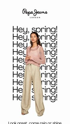 Hey Spring, what's up today? from Pepe Jeans London Newsletter Layout, Email Newsletter Design, Graphisches Design, Layout Design, Email Design Inspiration, Fashion Graphic Design, Poster Layout, Fashion Advertising, Clothing Photography