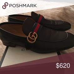 Gucci loafer All brown with gold gg and green/red stripe. Worn once Gucci Shoes Loafers & Slip-Ons