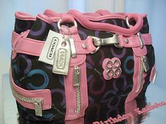 """This cake was ordered by a sweet client for his wife's birthday. He said she loved Coach handbags and he just wanted a cake that would make her say """"WOW"""".hopefully she did! Cheap Designer Handbags, Cheap Handbags, New Handbags, Coach Handbags, Coach Purses, Purses And Handbags, Ma Baker, Handbag Cakes, Purse Cakes"""