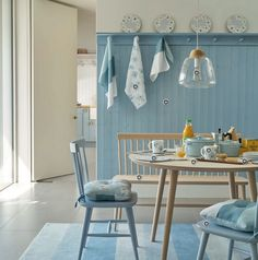 Laura Ashley Blue kitchen