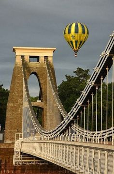 Suspension Bridge and Hot Air Balloon ~ Clifton