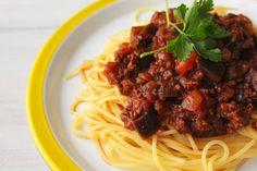 大人もこどももみんな大好き!なす入りスパゲティーミートソース : ビジュアル系フード