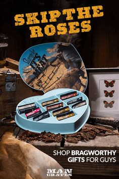 Shop Valentine's Day gifts at Man Crates! Send him a Man Crate full of stuff guys love - there's a crate for every type of guy.