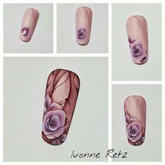 ILF / NailArt www.ilf-store.de  #nailarttutorial #ilfnails #ivonne_retz #nails #nailart #naildesign #onestroke #aquarellnails #instanails #nailstagram