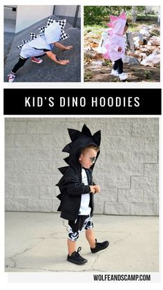 These dinosaur hoodies are the coolest things ever! Perfect for dino loving boys and girls. So many color and size options. Love the edgy modern grunge style. Baby/ Toddler/ Youth sizes. Great for dressing up, imaginative play, birthday parties, or every day wear.