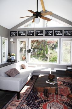 An Eclectic & Cool South Austin Bachelor Bungalow - Vaulted Window